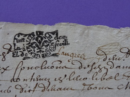 1686 Gén. De CHAMPAGNE Papier Timbré N°57 De Huit Denier La Demi-feuille Avec Paraphe Manuscrit De Langres (Haute-Marne) - Seals Of Generality