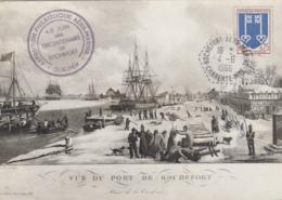 Rochefort-sur-Mer 17 - Vue Du Port De Rochefort - Philatélie Aéro-Marine - 1966 - Histoire Bâteaux - Rochefort