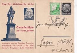 ALLEMAGNE 1938 CARTE DE HALLE TAG DER BRIEFMARKE - Briefe U. Dokumente