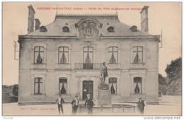 J29-10) BRIENNE LE CHATEAU  (AUBE) HOTEL DE VILLE ET STATUE DE NAPOLEON  - (ANIMÉE - 2 SCANS) - France