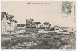 K12- 50) BARNEVILLE  SUR MER (MANCHE) PLAGE ET CHLETS - Barneville
