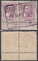 Belgique 1911 - COB 80 En Paire Obl. Oostcamp  (DD) DC3453 - 1905 Thick Beard