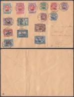 Belgique  1920 - COB 132/4 +150/163 Sur Lettre De Soignies (DD) DC3459 - 1918 Rotes Kreuz