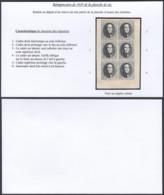 Belgique - Essai - Reimpression De 1929 De La Planche De Six - Noir Sur Papier Crème  (DD) DC3470 - Essais & Réimpressions