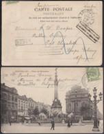 Belgique - COB 56 Sur CP De Bruxelles Vers Cape Afrique Retour + Rebut   (DD) DC3471 - 1893-1900 Thin Beard