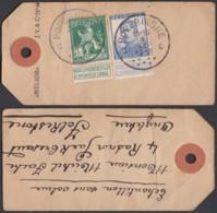 Belgique - COB 110 + 125 Sur Etiquette De Colis Obl. Poperinghe - Territoire Non Envahi (DD) DC3483 - 1912 Pellens