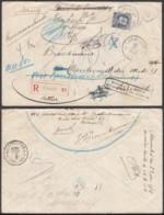 Belgique - COB 213 Sur Lettre De Turnhout - Recommandé Vers Bruxelles + Retour (DD) DC3495 - 1929-1941 Grand Montenez