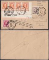 Belgique - COB 165 + 190 X4 + 202 Sur Lettre Par Avion De Bruxelles 1925 Vers Suisse (DD) DC3496 - 1919-1920 Roi Casqué