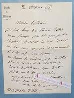 L.A.S 1868 Auguste ALLOU évêque De MEAUX > Maire ESBLY -  Né à Provins Seine Et Marne De Crécy Lettre Autographe Bishop - Autógrafos