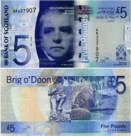 SCOTLAND - BoS     5 Pounds      P-124[b]       19.1.2009       UNC - Scozia