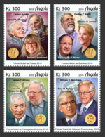 Angola 2019 Nobel Prize Winners Physics Chemistry Medicine Economics 4v ANG190104a - Famous People