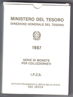 Italia 1987 Divisionale Proof - 1946-… : Repubblica