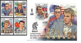 Angola 2019 Chess Caruana Mamedyarov Magnus Carlsen Norway MS+S/S ANG190103b - Famous People
