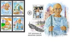 Angola 2019 Mahatma Gandhi 150th Aniv Taj Mahal Peacock MS+S/S ANG190109b - Unclassified