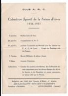 Club A R C Aix Le Bains  Revard  Chambery   1937 - Petit Format : 1921-40