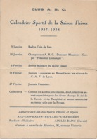 Club A R C Aix Le Bains  Revard  Chambery   1938 - Petit Format : 1921-40