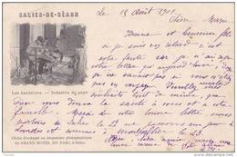 M25- 64) SALIES DE BEARN - LES SANDALIERS  - INDUSTRIE DU PAYS - (METIER - FOLKLORE - OBLITERATION DE 1901 - 2 SCANS) - Salies De Bearn