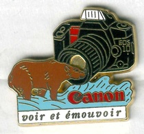 Pin's Arthus Bertrand - Canon Appareil Photo Camera Photographie Ours - Photographie