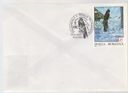 EAGLES BIRDS COVER RO 1993, SPECIAL POSTMARK PROTECT NATURE, 5 JUNE SIRET, ROMANIA 1993 - Birds