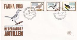 Dutch Antilles 1980, FDC Complete Set Birds - Vögel
