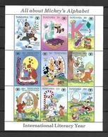 Disney Tanzania 1990 International Literacy Year Sheetlet #2 MNH - Disney