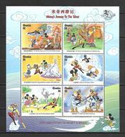 Disney Gambia 1998 Ovp - Mickey's Journey To The West Sheetlet #1 MNH - Disney
