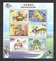 Disney Gambia 1998 Ovp - Mickey's Journey To The West Sheetlet #2 MNH - Disney