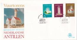Dutch Antilles 1991, FDC Lighthouses, Complete Set - Lighthouses