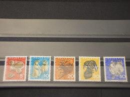 SVIZZERA - 1965 ANIMALI 5 VALORI - NUOVI(++) - Svizzera