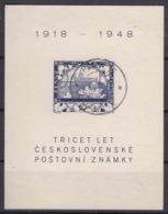 Czechoslovakia 1948 Mi#Block 11 Used - Czechoslovakia