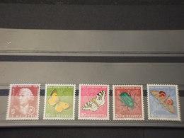 SVIZZERA - 1957 FARFALLE 5 VALORI - NUOVI(++) - Svizzera