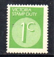 848 490 - VICTORIA , 1 Cent Verde Integro **  STAMP DUTY - 1850-1912 Victoria