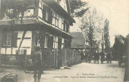 "CPA FRANCE 68 ""Diefmatten, Type De Maison Alsacienne"" - Dannemarie"