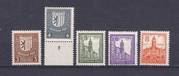 West-Sachsen - 1946 - Michel Nr. 150 I, 151 I, 152 II, 153 II, 154 I - 25 Euro - Sowjetische Zone (SBZ)