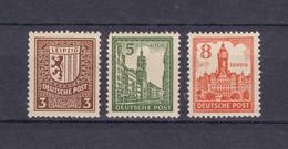 West-Sachsen - 1946 - Michel Nr. 156 I, 158 II, 160 I - 16 Euro - Sowjetische Zone (SBZ)