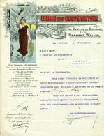 Lettre 1922 Union Des Coopératives Centre Borinage (maison Du Peuple) - 1900 – 1949