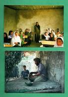 Afghanistan Potier D ' Istalif Et Nouvelles Classes  Lot De 2 Cartes Postales - Afghanistan
