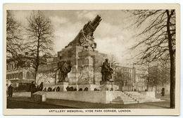 LONDON : HYDE PARK CORNER - ARTILLERY MEMORIAL - London Suburbs