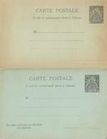 Entier Postal Nouvelle Caledonie 10c Groupe Noir CP Et CPRP - Lettres & Documents