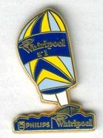 Pin's Arthus Bertrand - Bateau Navire Voilier Philips Whirlpool Version Jaune - Barcos