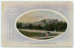 LONDON : KENSINGTON PALACE FROM GARDENS (EMBOSSED) - London Suburbs