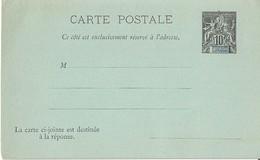 Entier Postal DIEGO SUAREZ Avec Réponse Attenante - Diégo-Suarez (1890-1898)