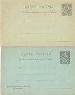 Entier Postal OBOCK Cp Et Cprp - Obock (1892-1899)