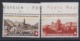Switzerland 1943 Pro Patria / Bundesfeier 2v (+margin)  ** Mnh (43189a) - Pro Patria
