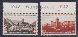 Switzerland 1943 Pro Patria / Bundesfeier 2v (+margin)  ** Mnh (43189B) - Nuevos