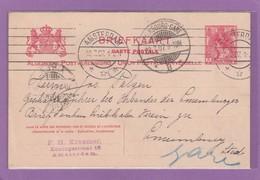 GS VON AMSTERDAM AN DEM BRIEFTAUBEN-LIEBHABER-VEREIN IN LUXEMBURG-STADT. - Entiers Postaux