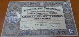 5 Schweizer Franken 1951 - Suisse