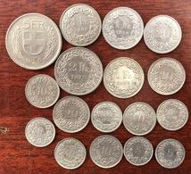 Monnaie Suisse, Lot De 17 Pièces De Suisse ( à Voir ) - Zwitserland