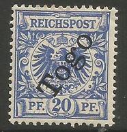 German Togo - 1897 German Eagle 20pf  MH *   Sc 4 - Colony: Togo
