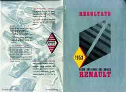 Très Rare Plaquette Présentant Les Résultats De La Régie Nationale Des Usines Renault En 1953 - Publicités